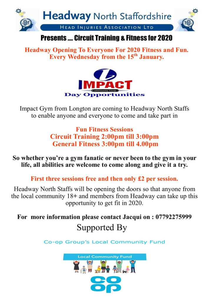Jacqui Oakes from Impact Gym will be hosting fitness session beginning in January